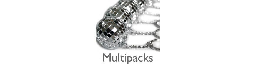 Disco Ball Keyrings - Multipacks