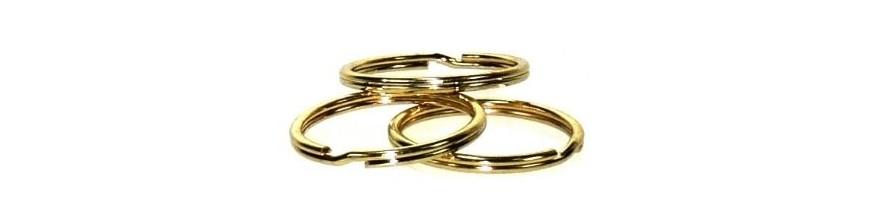 Brass-plated Split Rings