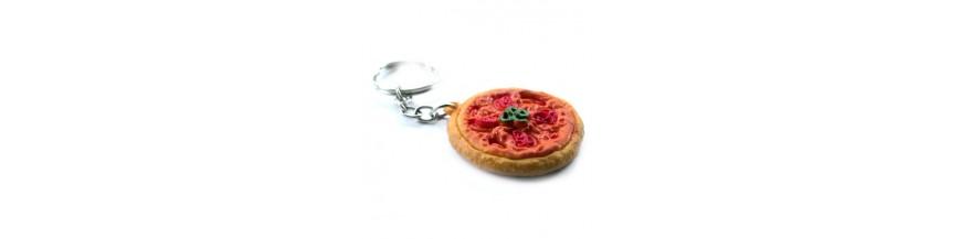 Pizza Keyrings