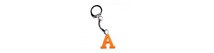 Wood Letter Keyrings