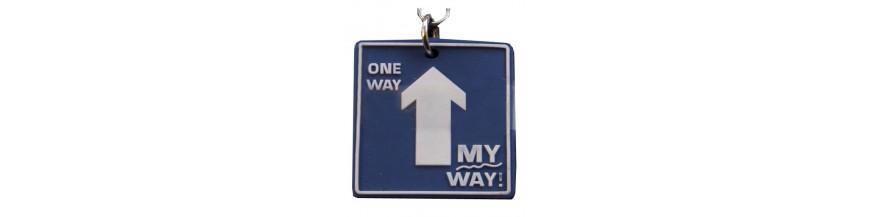 Road Sign Keyrings
