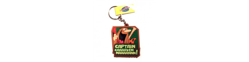 Captain Caveman Keyrings