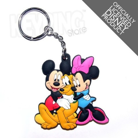 Mickey Pluto Minnie Keyring