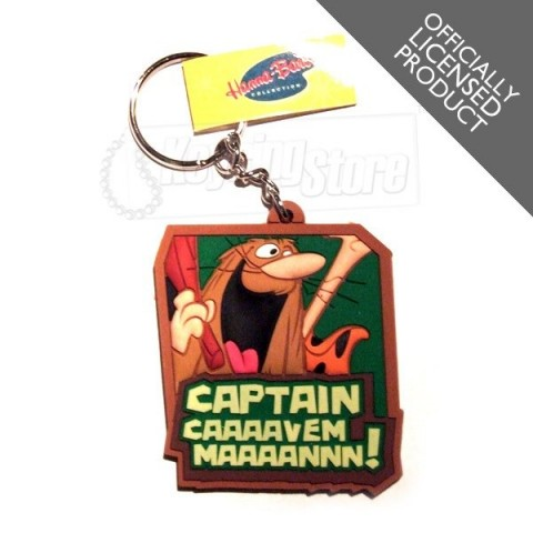Captain Caveman Keyring
