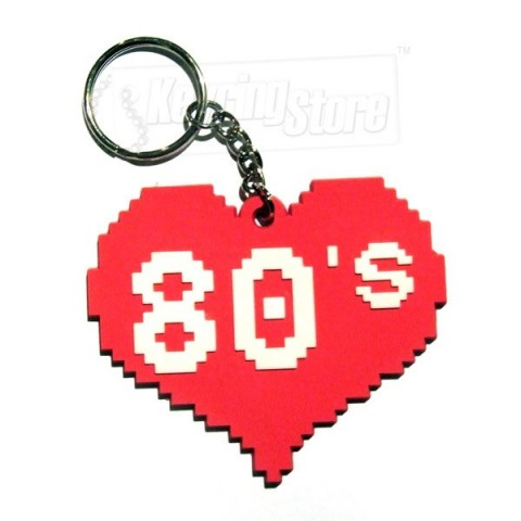 Love the 80s Eighties Keyring