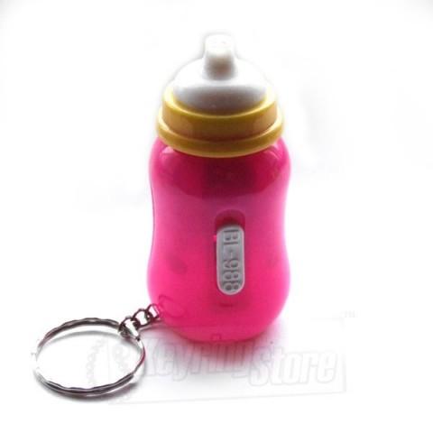 Baby Bottle-style LED torch keyring