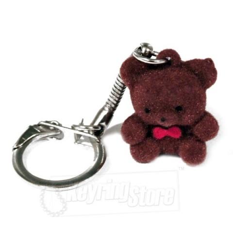 Brown Bear Felt Animal Keyring