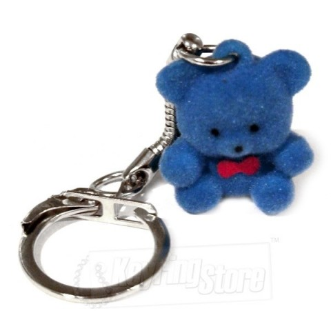 Blue Bear Felt Animal Keyring