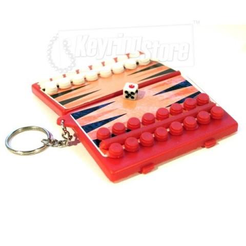 Backgammon Keyring