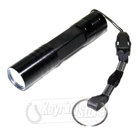 Heavy Duty Metal Torch Keyring - White LED