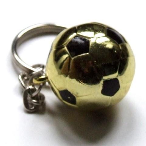 Football keyring gold effect