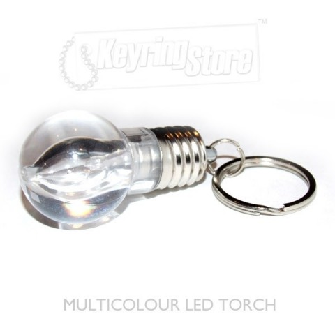 Light Bulb LED lightshow keyring