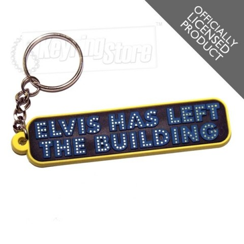 Elvis Has Left The Building Keyring - officially licensed - The Keyring Store