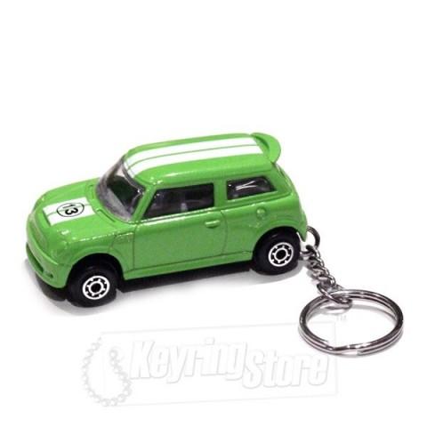 Car Keyring - Green - Striped Roof