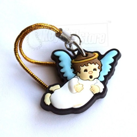 Christmas Angel Flying Charm Keyring