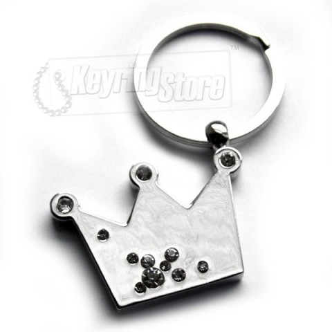Crown Diamanté Keyring