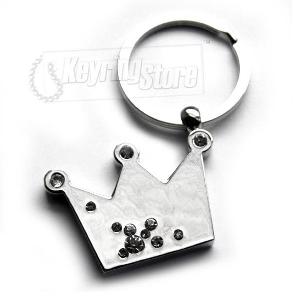 Crown Diamanté Keyring