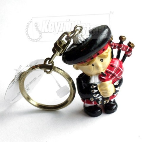 Scottish Bag Pipes Player Keyring