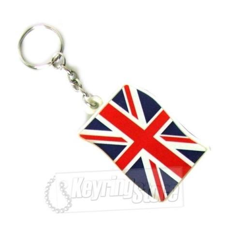 U Jack British Flag Keyring