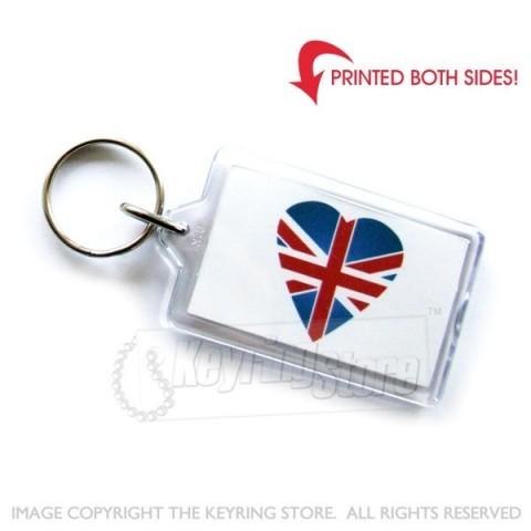 Love United Kingdom Heart Flag Keyring