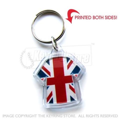 United Kingdom T Shirt U Jack Flag Keyring