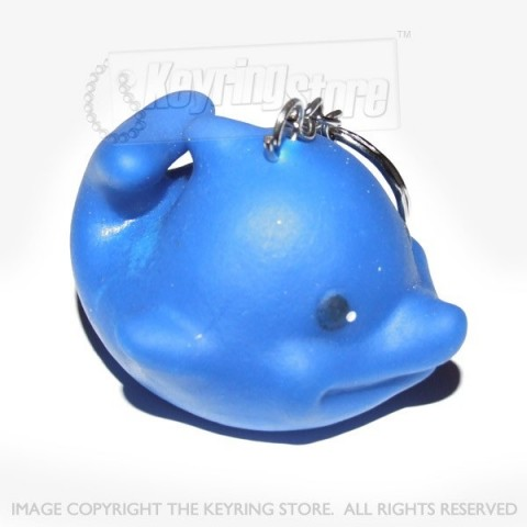 'Rubber' Dolphin Keyring - Squeaky!