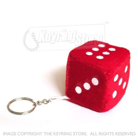 Fluffy Dice keyring
