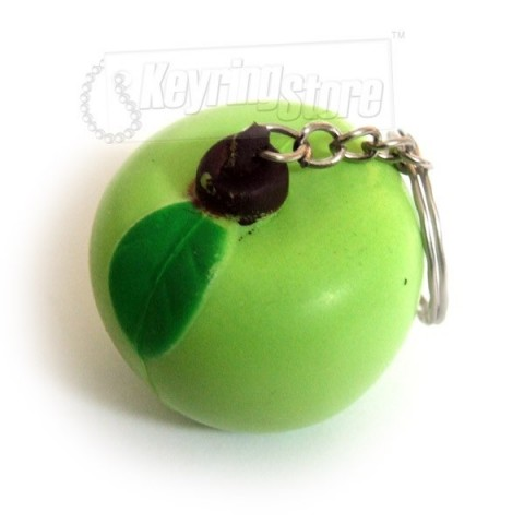 Green Apple Keyring - Great Quality!