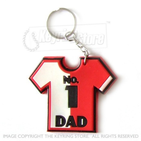 No.1 Dad Sport shirt keyring