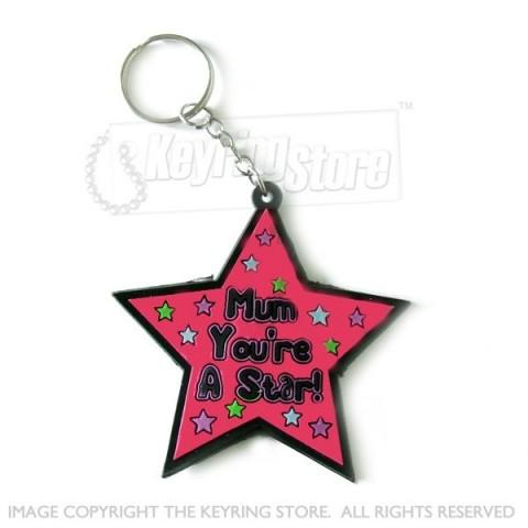 Mum You're A Star Keyring