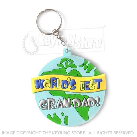World's Best Grandad Keyring