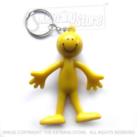 Smiley Flexi Man keyring