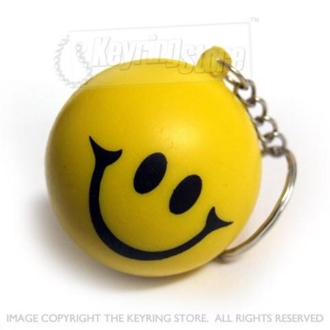 Smiley Squashy Ball Keyring