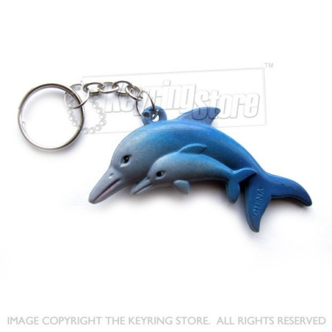 Dolphin Keyring (twin dolphins)