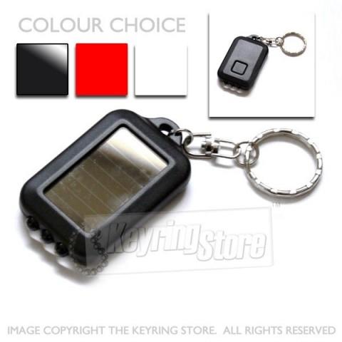 Solar LED torch keyring