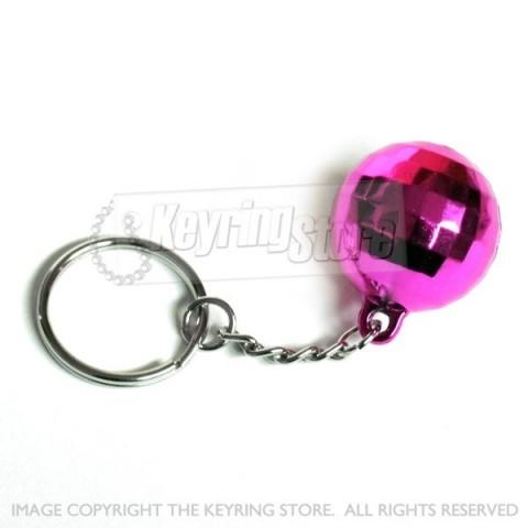 Premium Pink Disco ball keyring