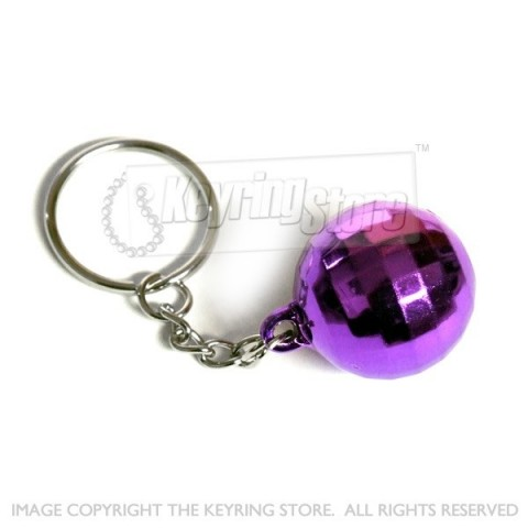 Purple Premium Disco ball keyring