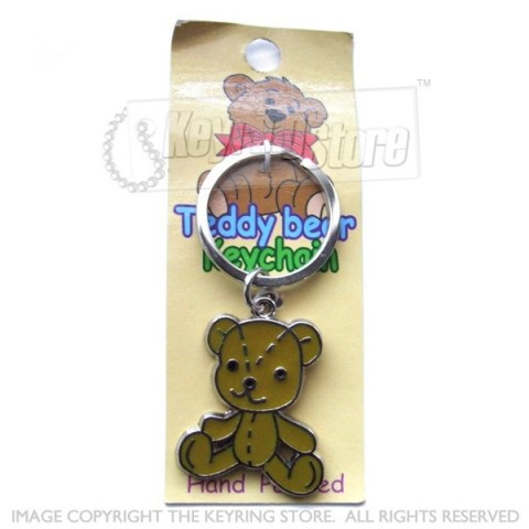 Teddy Bear Hand-painted Keyring