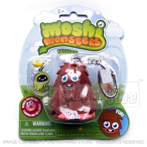 Moshi Monster Furi Keyring (with charmling pendent)