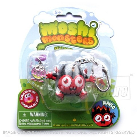 Moshi Monster Diavlo Keyring (with charmling pendent)
