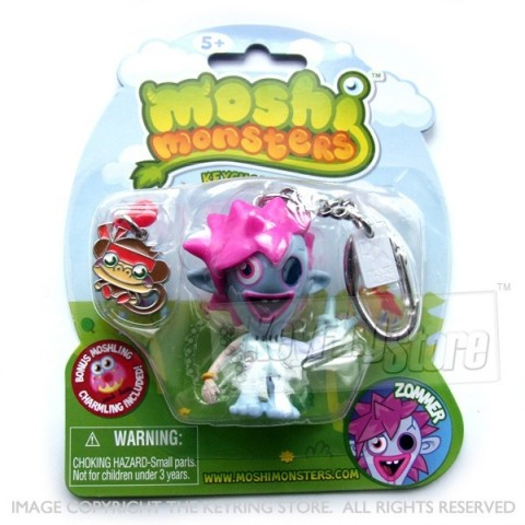 Moshi Monster Zommer Keyring (with charmling pendent)