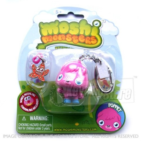 Moshi Monster Poppet Keyring (with charmling pendent)