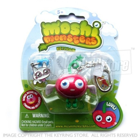 Moshi Monster Luvli Keyring (with charmling pendent)