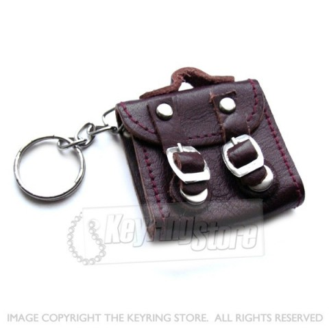 Real Leather Office Bag Keyring