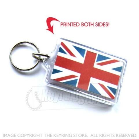 U Jack British Flag Plastic Keyring