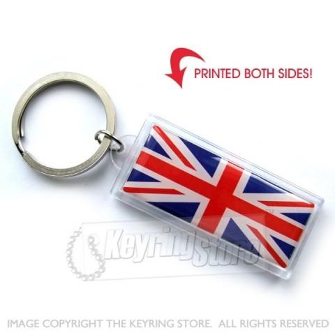 Great Britain Flag Plastic Keyring