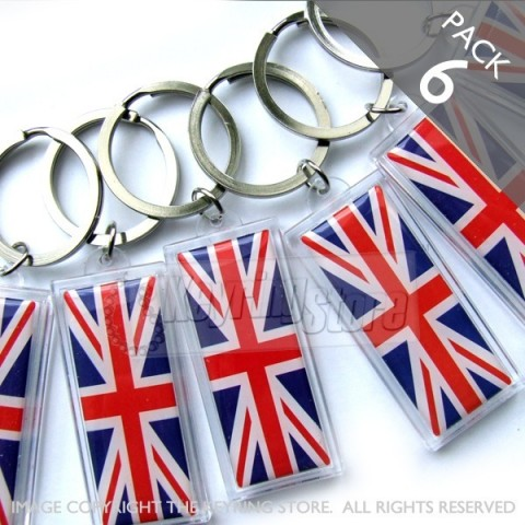 Great Britain Flag Keyring - PACK 6