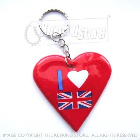 I love GB Heart Keyring