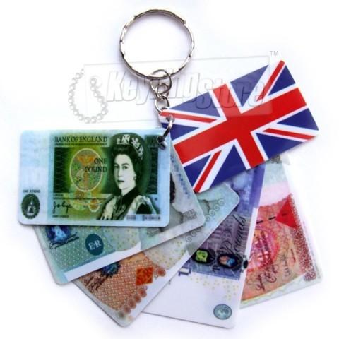 United Kingdom Pound Money Keyring