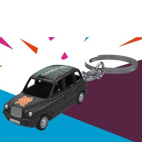 London 2012 Black Cab Taxi Keyring